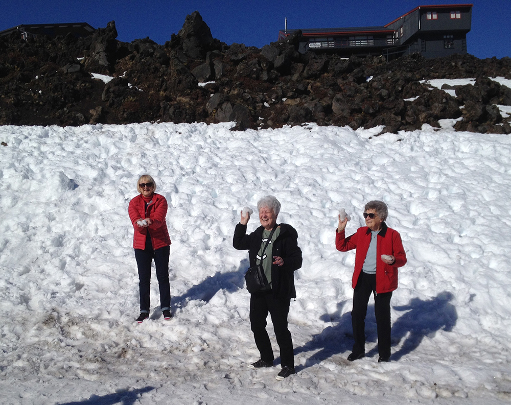 Fun in the snow at Ruapehu - MoaTours Small Group Escapes