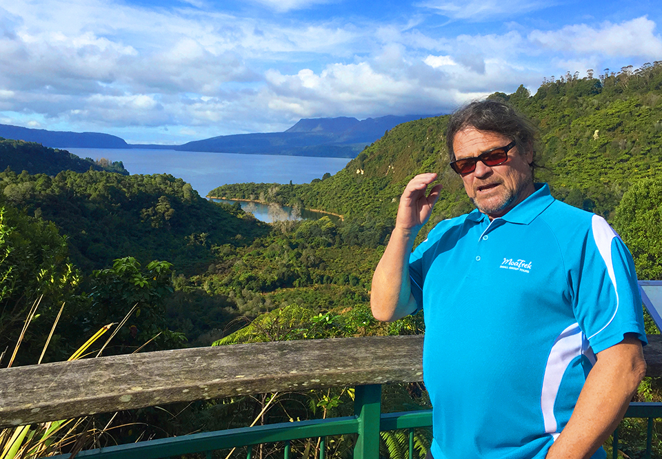 MoaTours Guide Paul at Lake Tarawera
