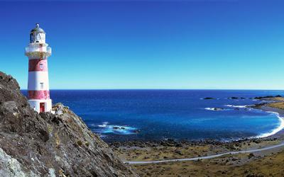 Views of Cape Palliser Lighthouse and beach in the Wairarapa