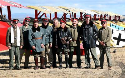 Pilots in uniform at the Yealands Classic Fighters Airshow - Classic Aircraft Photography