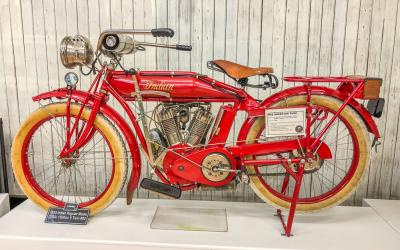 Indian Motorcycle on display at Bill Richardson Transport World in Invercargill