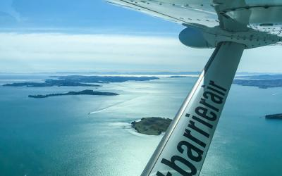 Views of the Hauraki Gulf from the Great Barrier Island flight