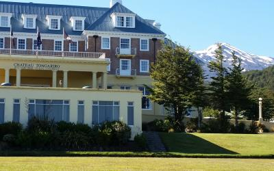 Chateau Tongariro Hotel and Mt Ruapehu