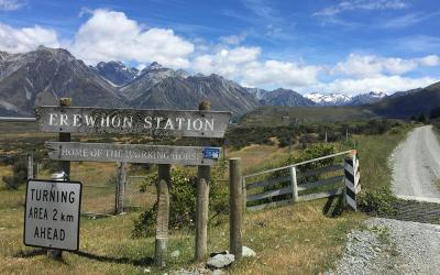 Gateway to Erewhon Station, Canterbury High Country