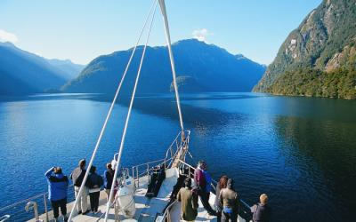 Cruising Doubtful Sound on tour with MoaTours