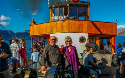 Guests enjoying a cruise on the TSS Earnslaw in Queenstown