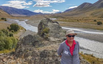 Guest and high country river at Molesworth Station