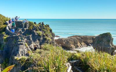 Ocean views from the Pancake Rocks, Punakaiki