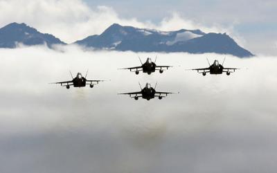 Jet Fighters, clouds and mountains - Wanaka Warbirds with MoaTours
