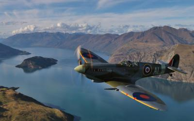 Spitfire over Lake Wanaka - Warbirds with MoaTours Gavin Conroy