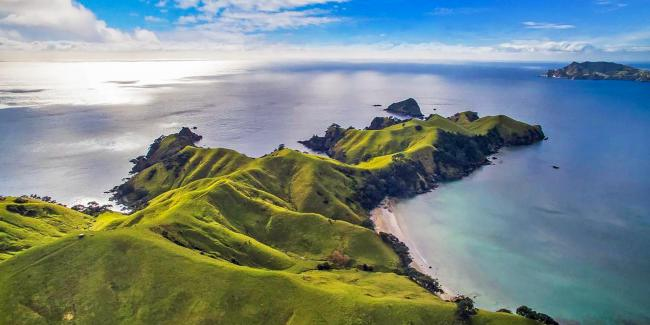 Aerial views of Great Barrier Island