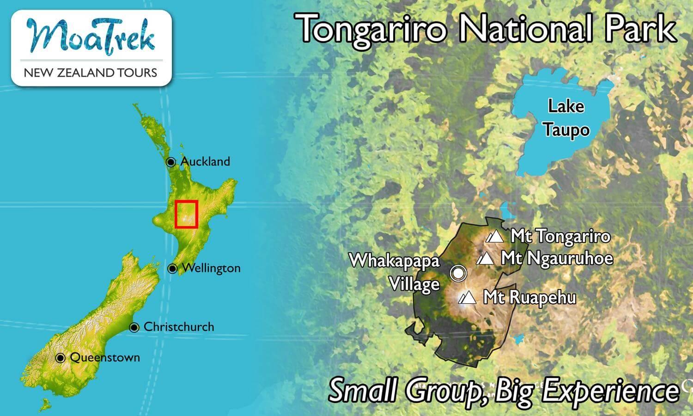 Taupo New Zealand Map.Tongariro National Park Moatours New Zealand