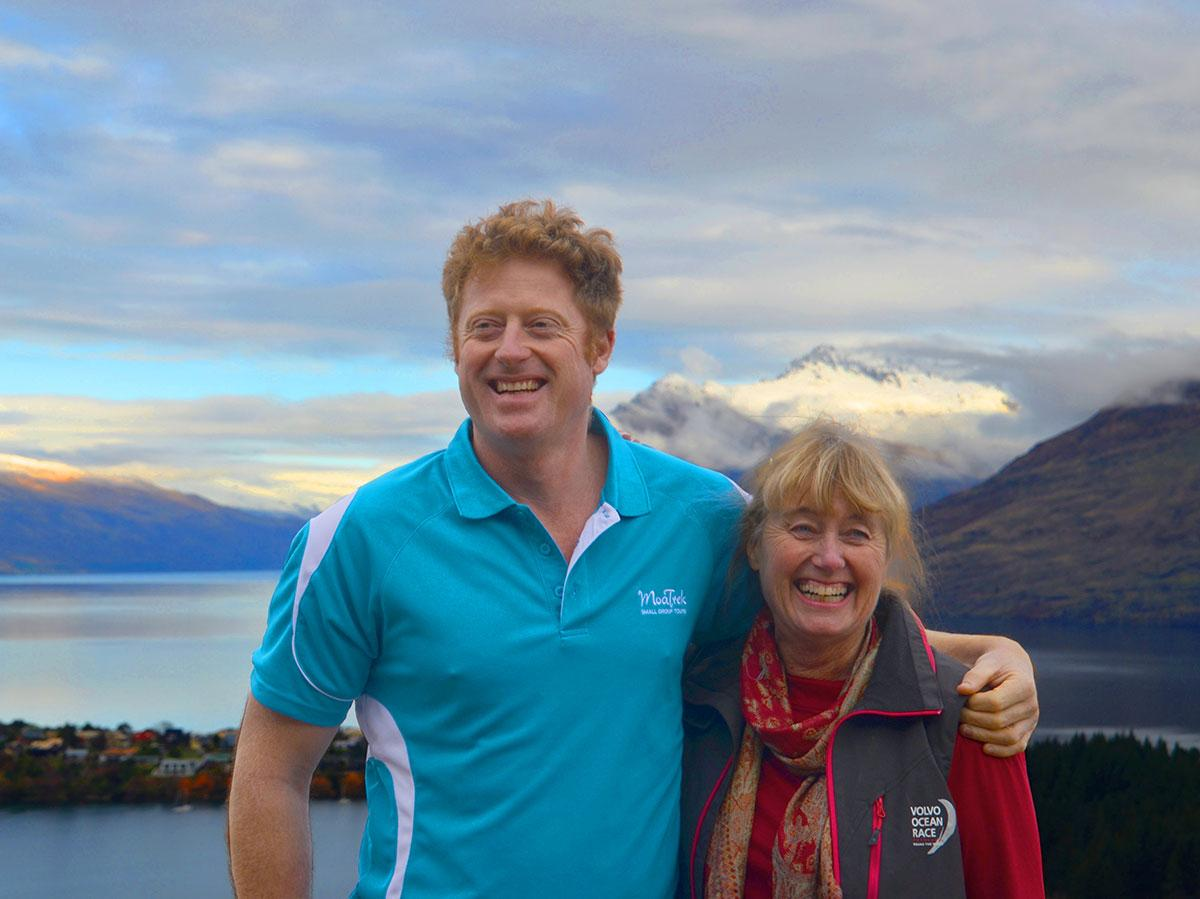 MoaTours owners Miles & Ena on Queenstown Hill