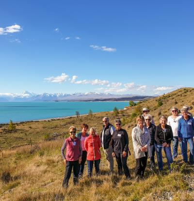 MoaTours group at Lake Pukaki