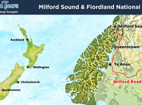 Milford Sound & Fiordland National Park Map - MoaTours
