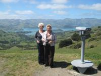 Ladies enjoying the hilltop views on Banks Peninsula - MoaTours Small Group Escapes