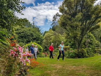 Visitors walking in Aramatai Gardens Te Kuiti
