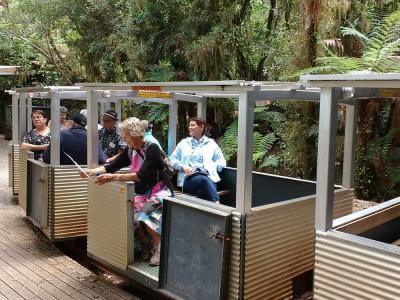 Guests on the Nile River Railway, Paparoa National Park