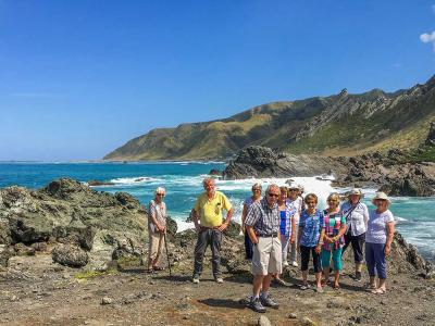 MoaTours group on the Wairarapa Coast