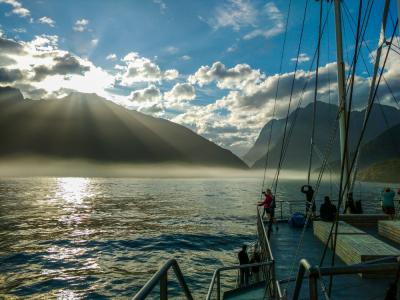 Sunrise from the Milford Mariner, Milford Sound