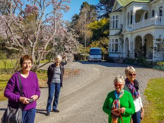 MoaTours Guests at Gwavas Homestead in the Wairarapa