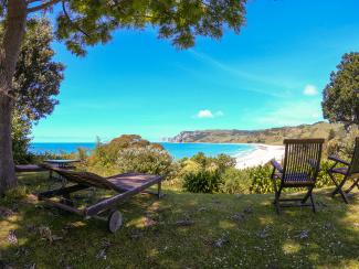 Views of Anaura Bay from Rangimarie Homestead
